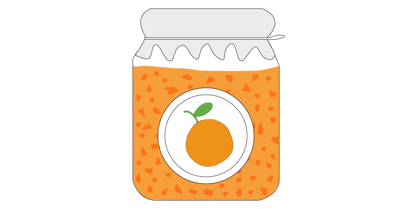 Orangenmarmelade<br>mit Agave (420g)