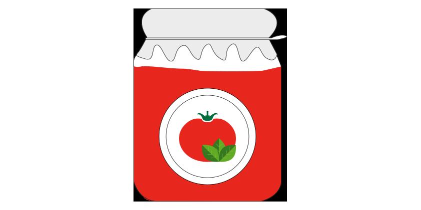 Passierte Tomaten mit Basilikum<br>(650gr)