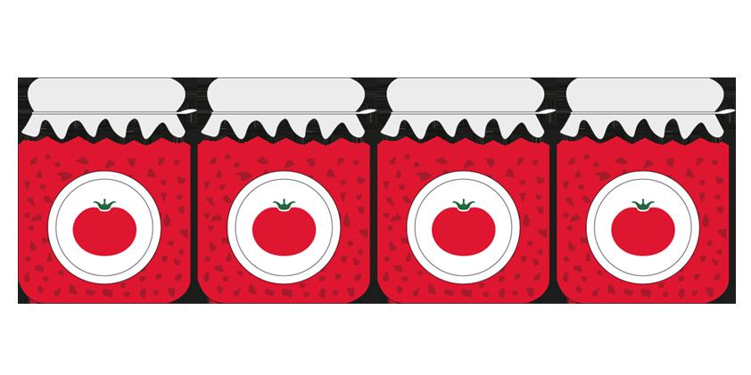 4x Mermelada de tomate<br>(420g)
